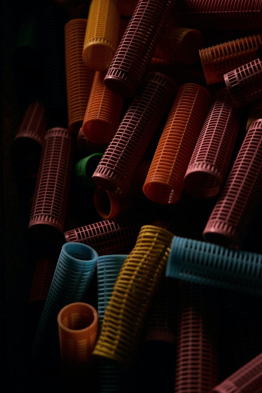 pile of hair curler