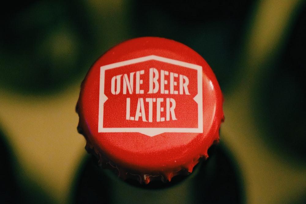 top view of bottle cap