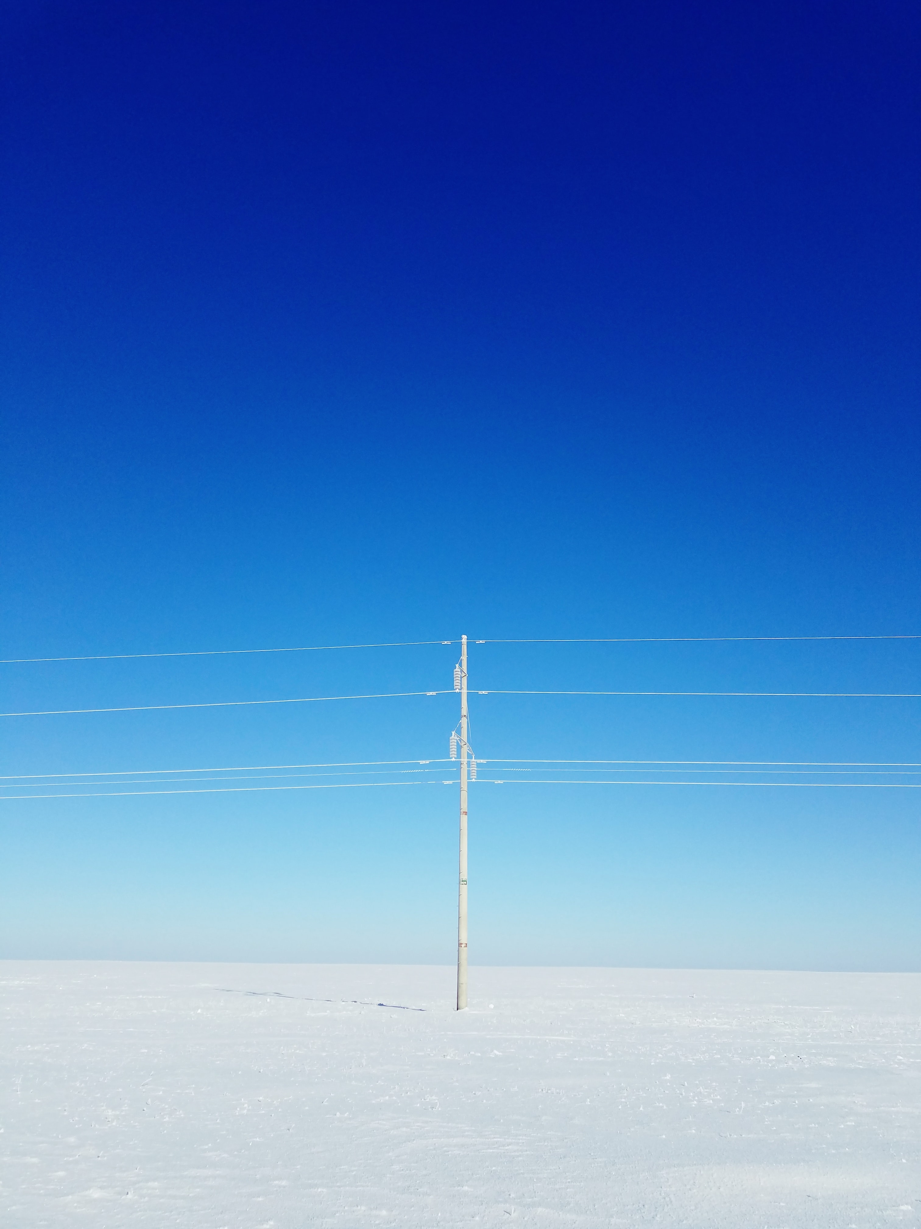white electric post