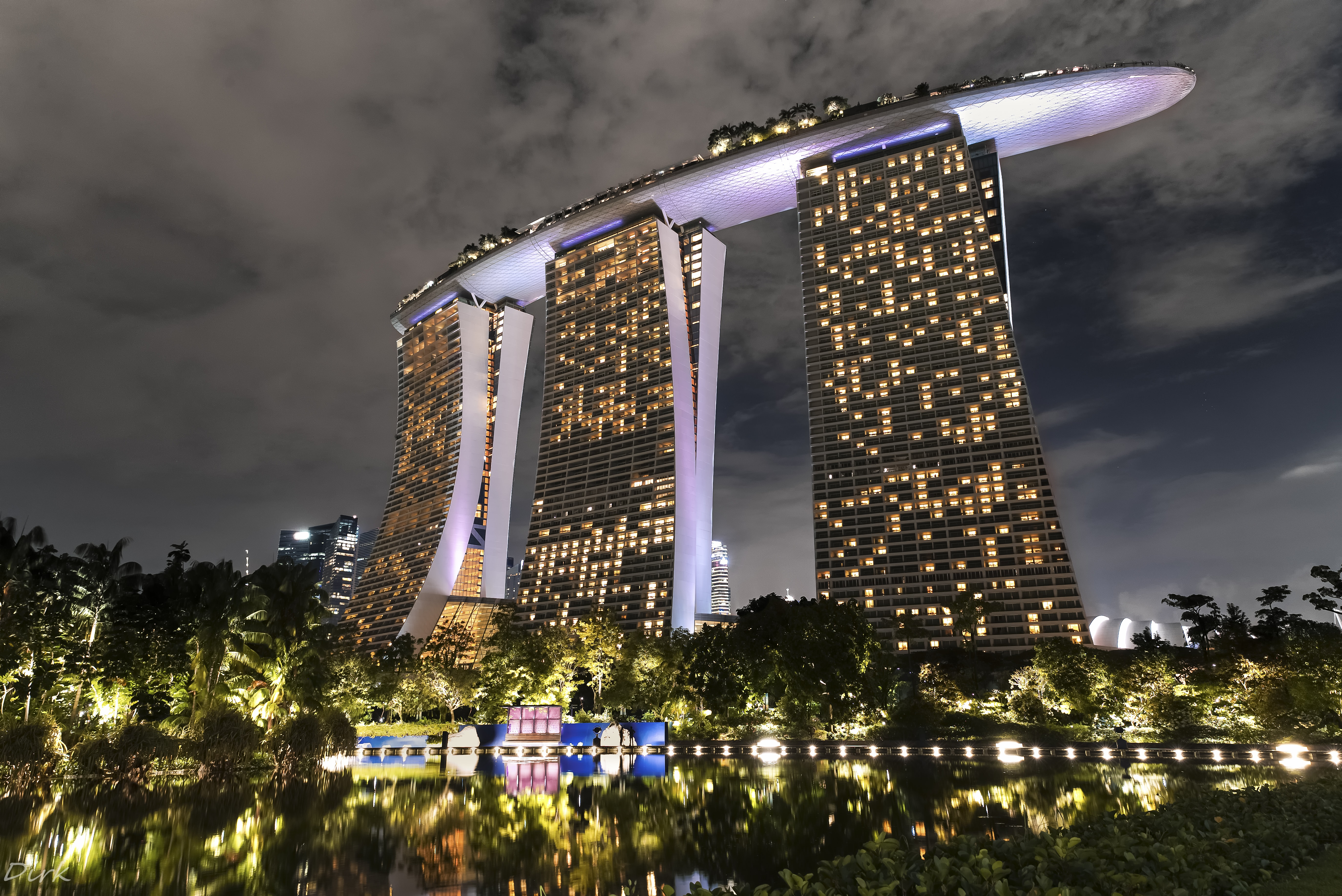 MB Sands, Singapore at nighttime