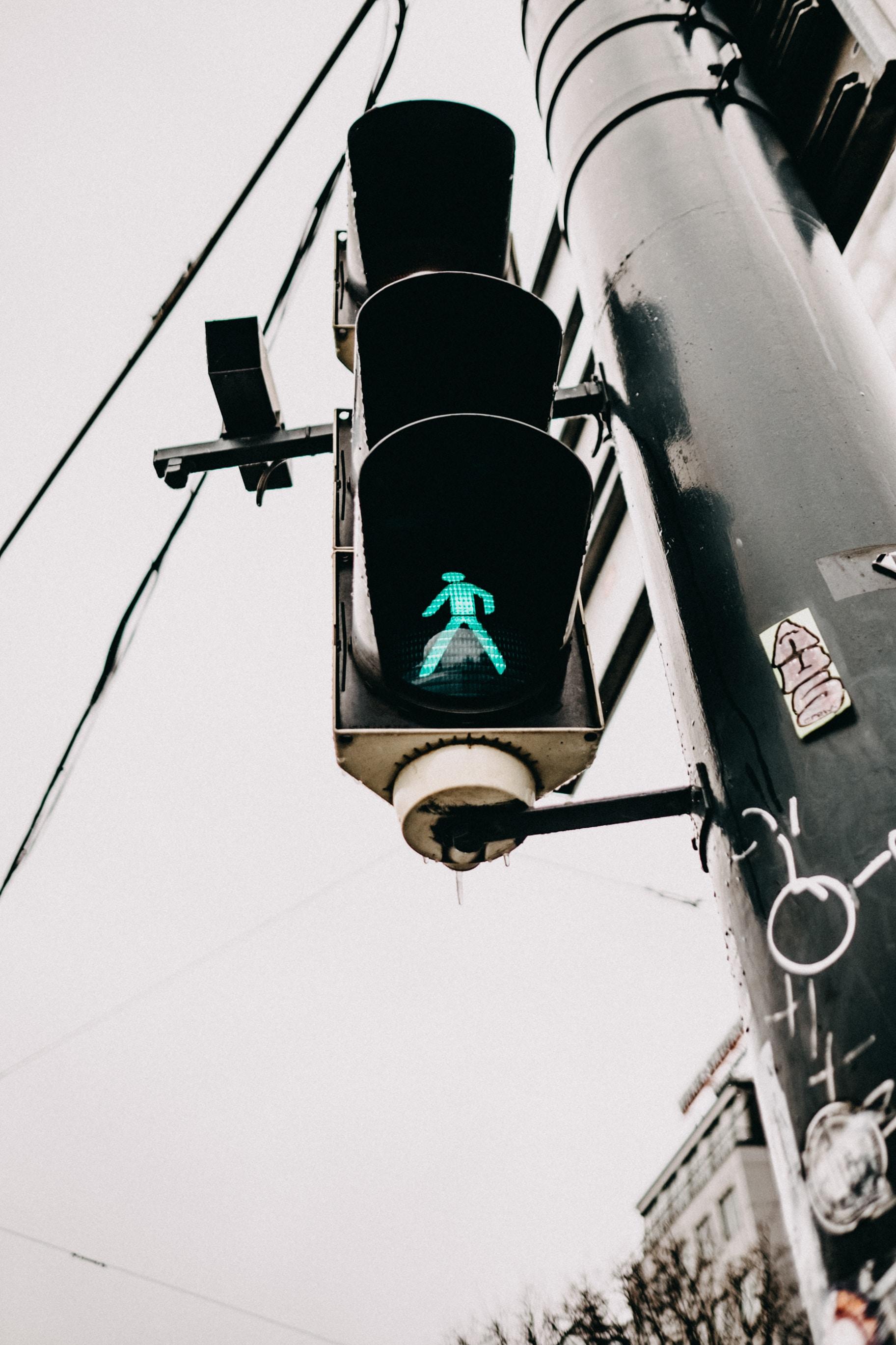 traffic sign at walk