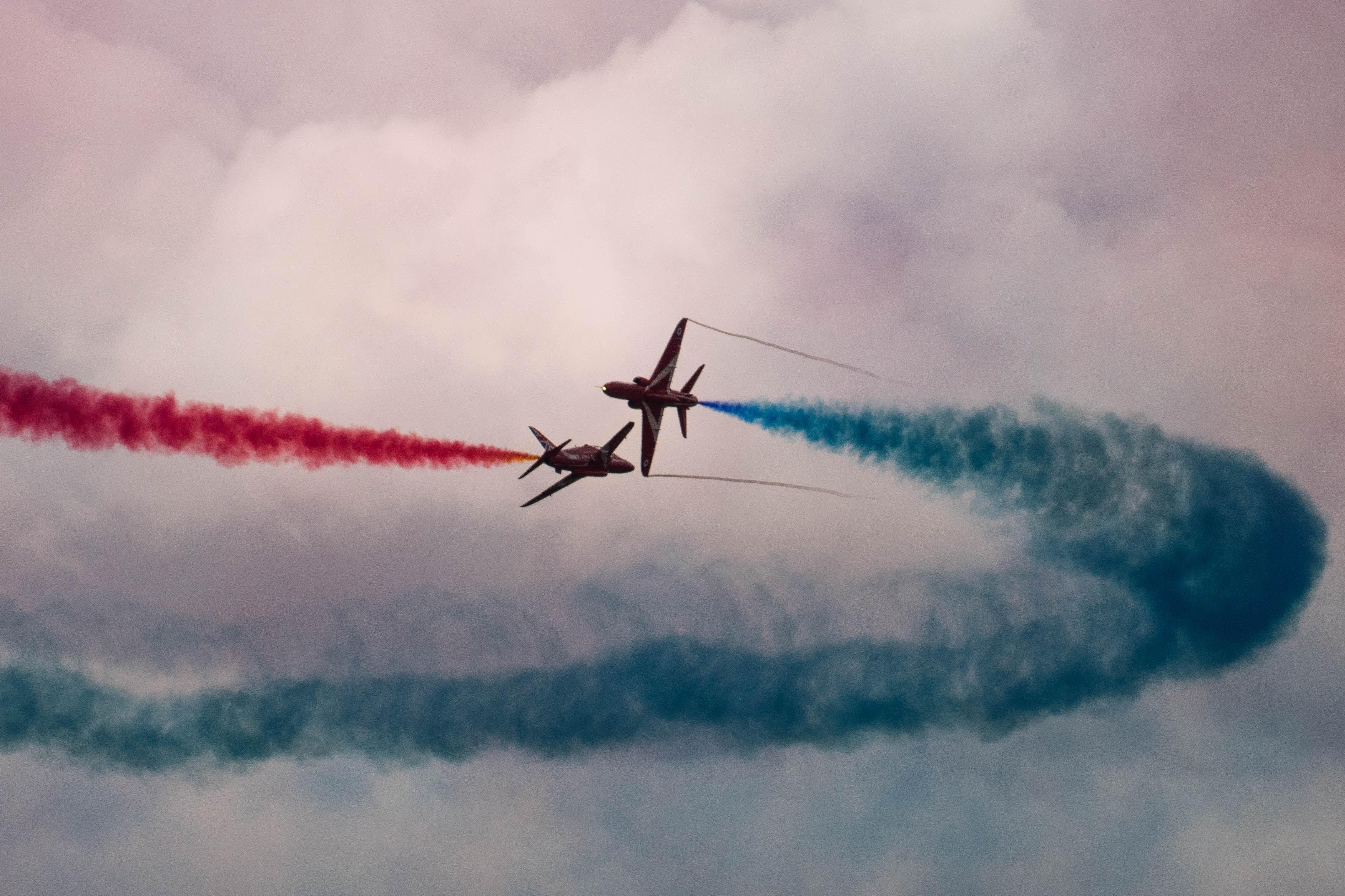 aircraft making air show