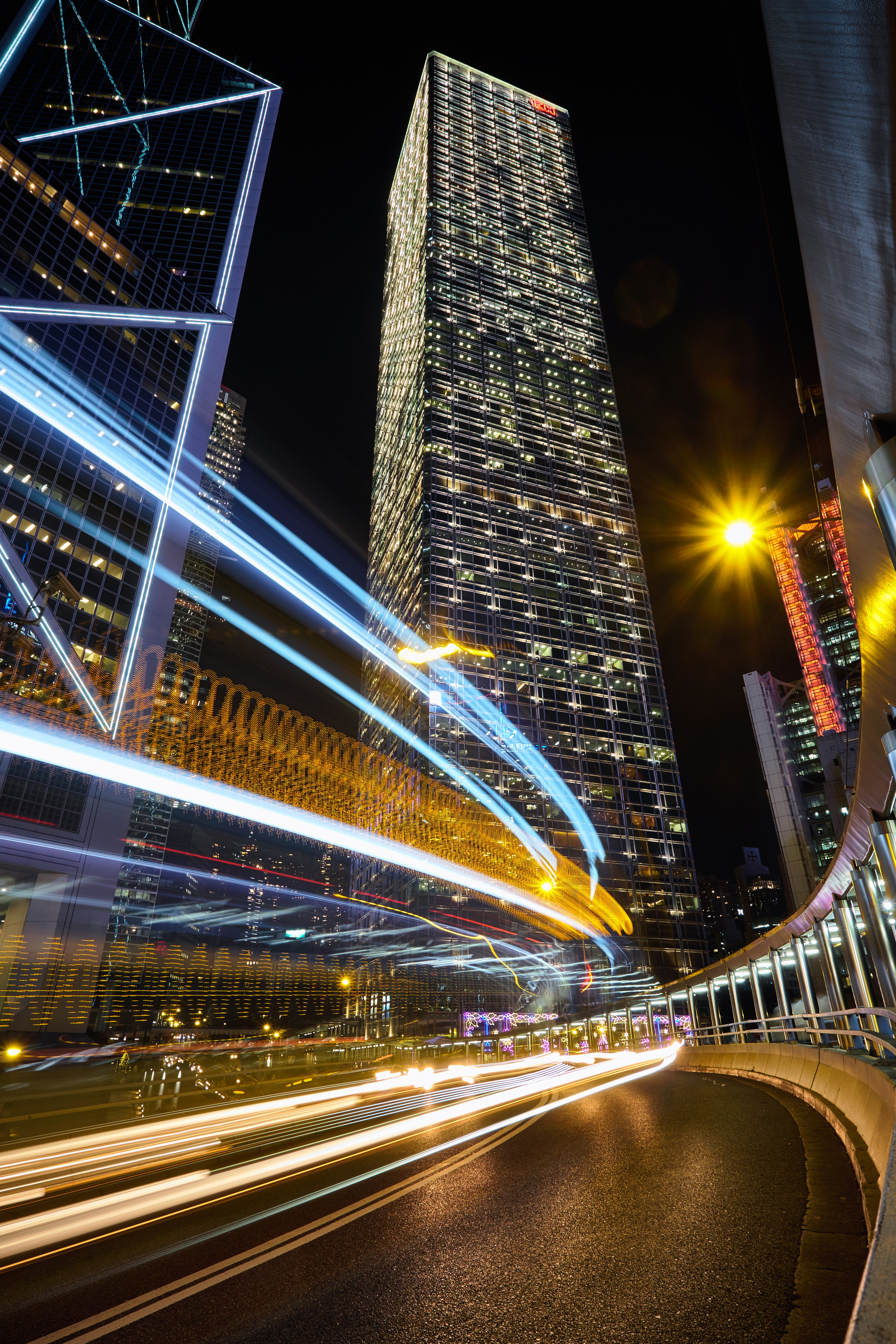 timelapse photography of high-rise building with lights