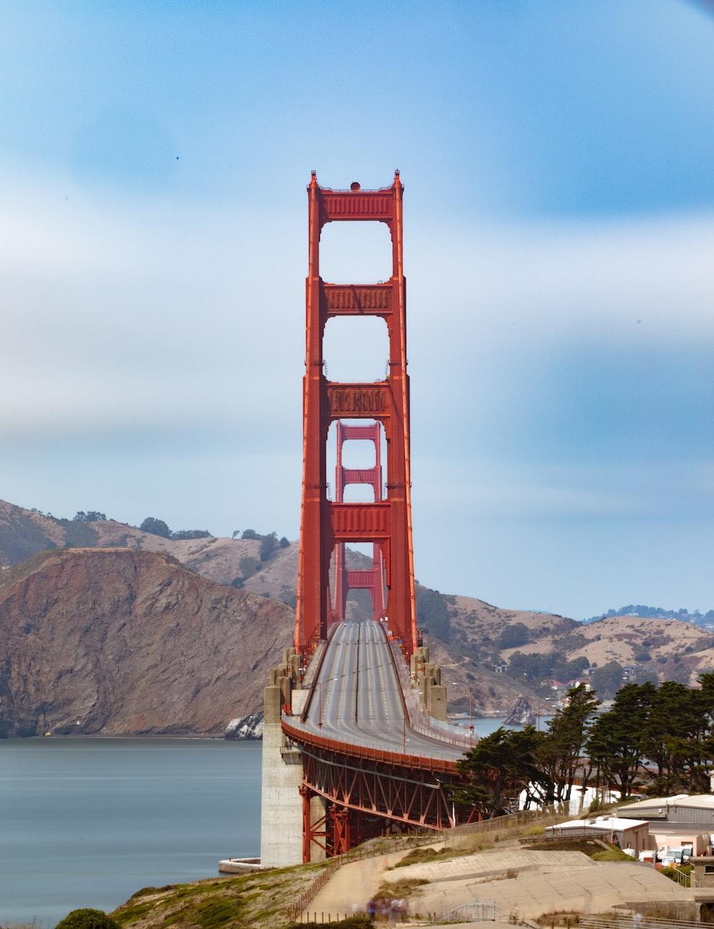 Golden Gate Bridge under blue clear sky