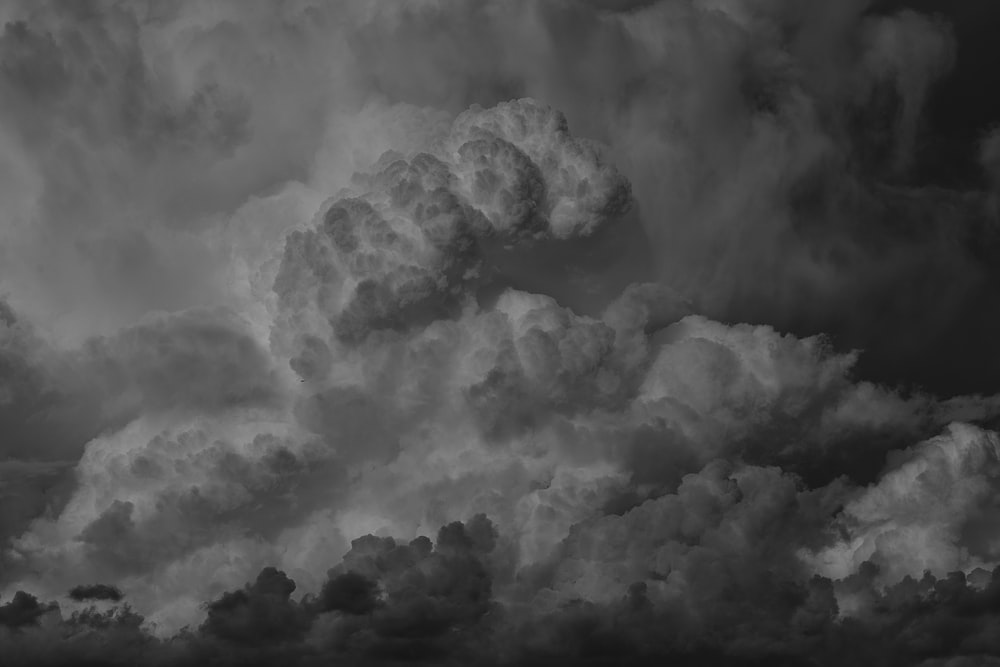 grayscale photography of nimbus clouds
