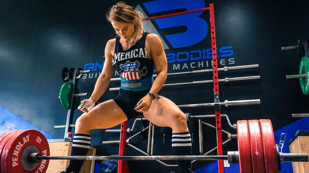 woman weightlifter