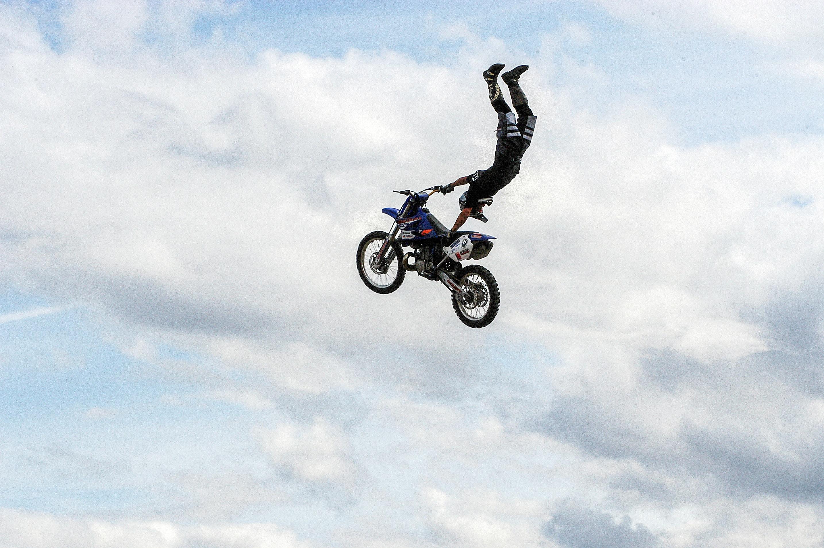person motocross exhibition