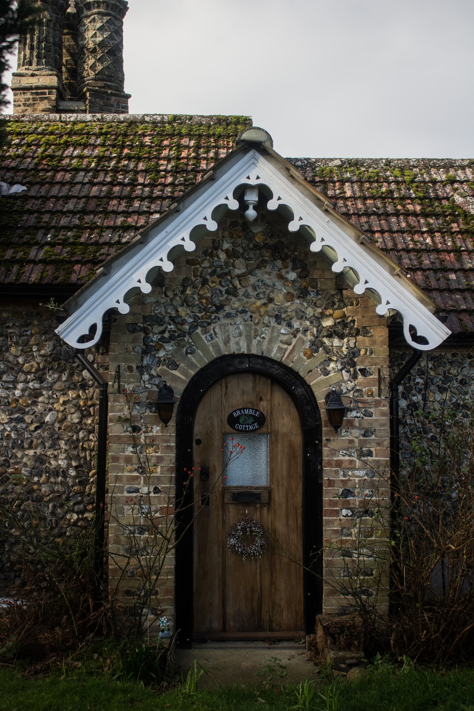 closed brown house door