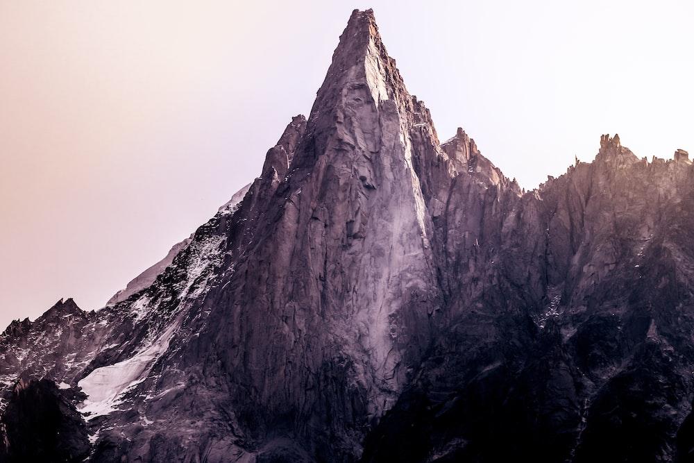 gray mountain alps