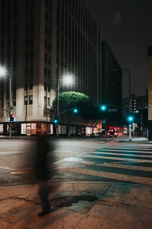 landscape photo of pedestrian lane beside building