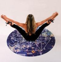 woman doing acrobat on floor
