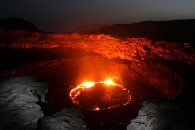 body of water with red flame ethiopia zoom background