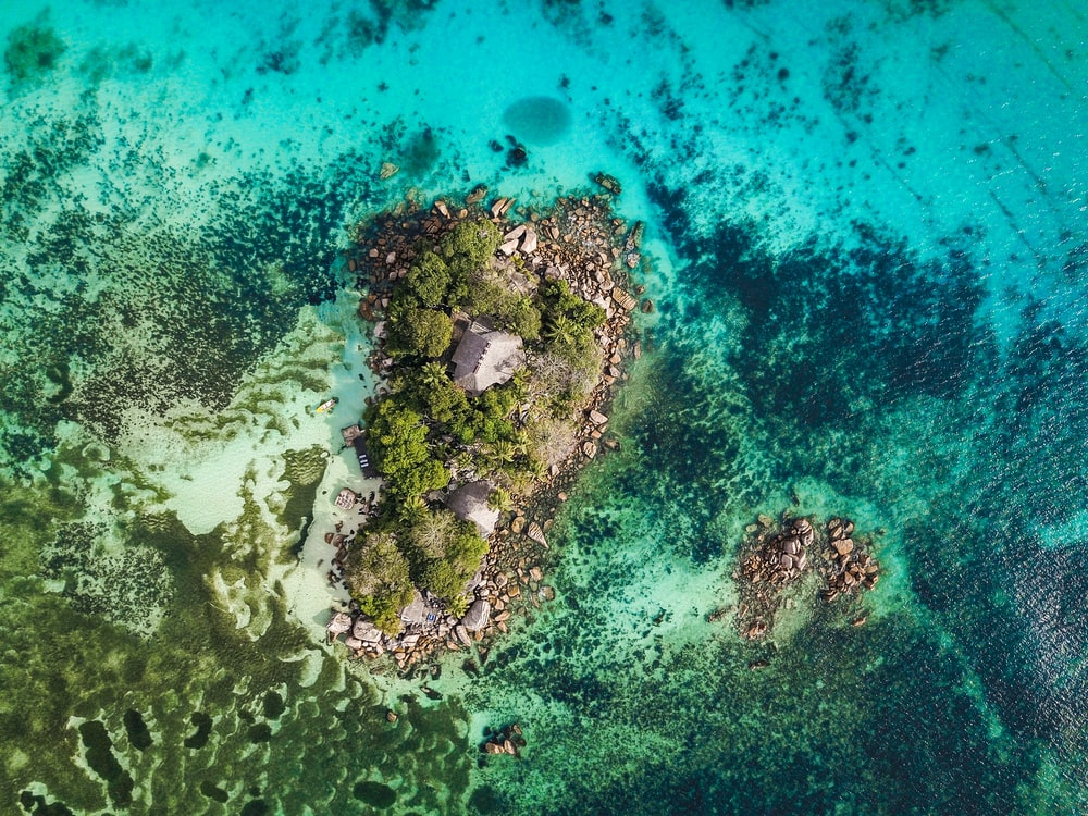 island on body of water in Seychelles