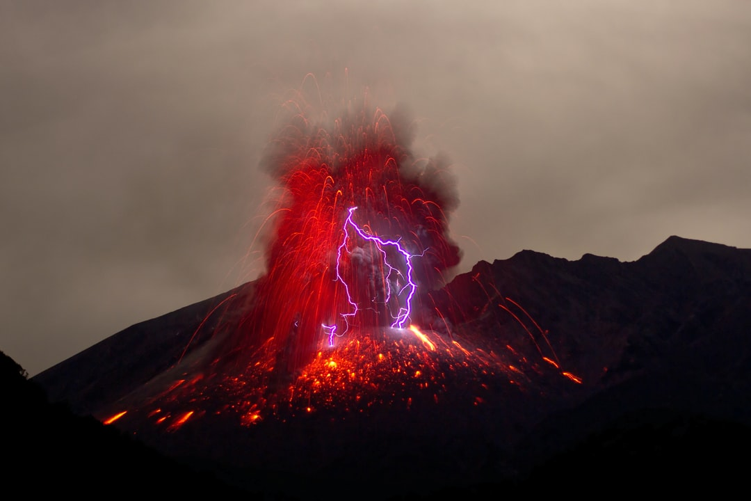 I shot this pic at Sakurajima volcano on japanese island Kyushu in 2013. After nights of waiting with minor eruptions without lightning, i captured this amazing pic.