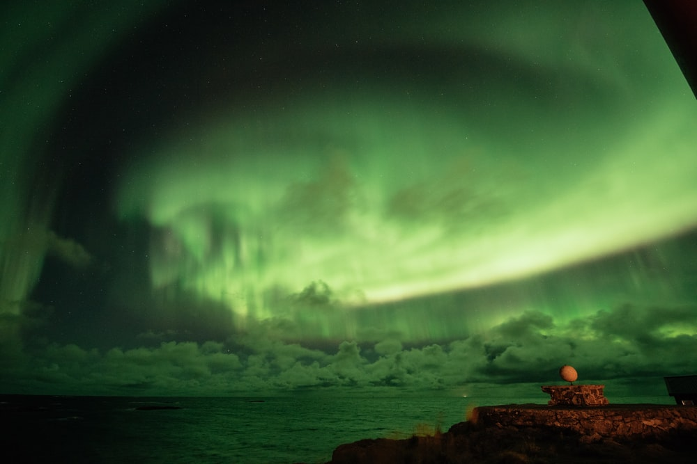 Northern Lights above body of water