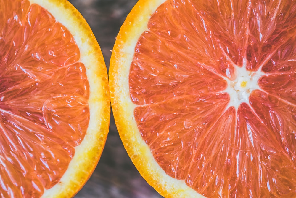 closeup photo citrus fruit
