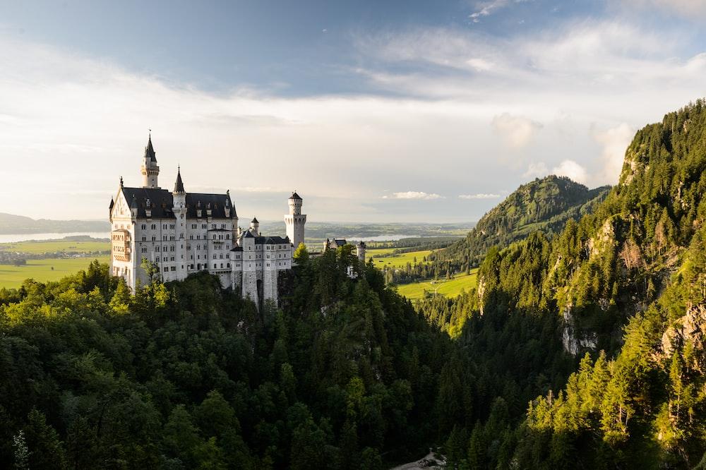white and black castle