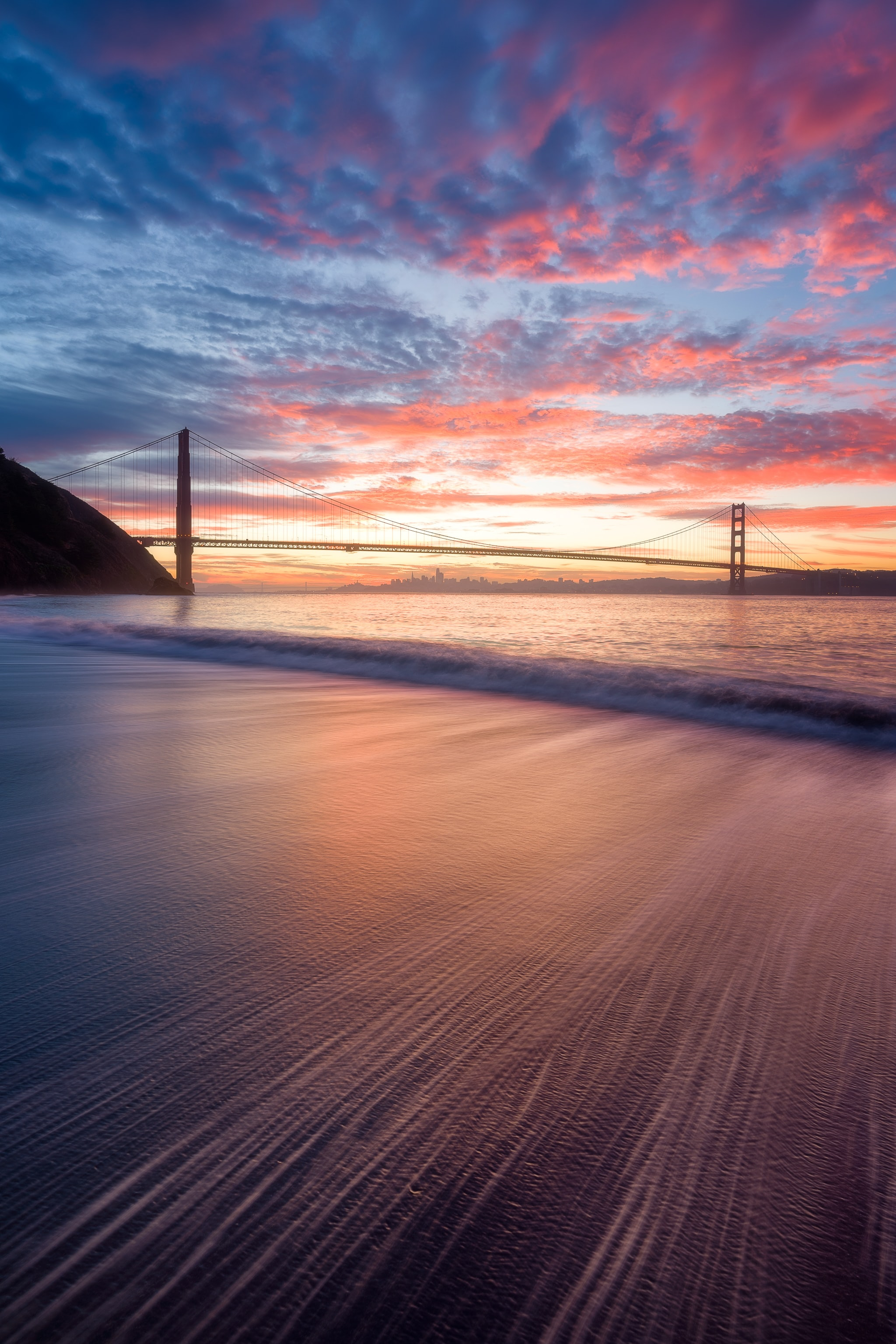 Golden Gate Bridge, San Francisco during golden hour