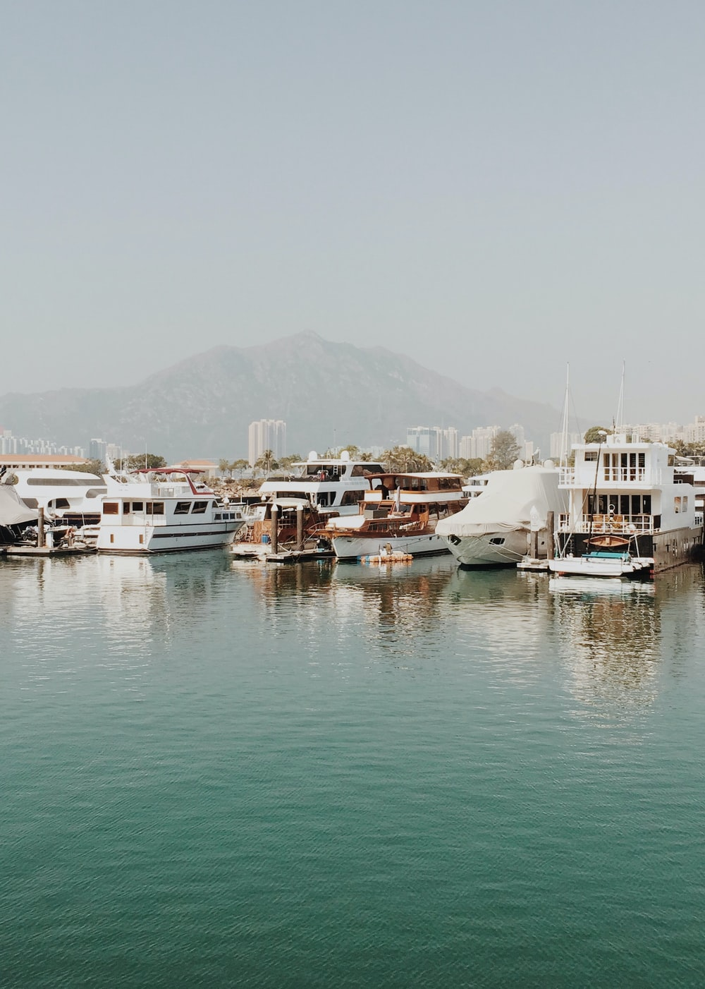 yachts dock during daytime