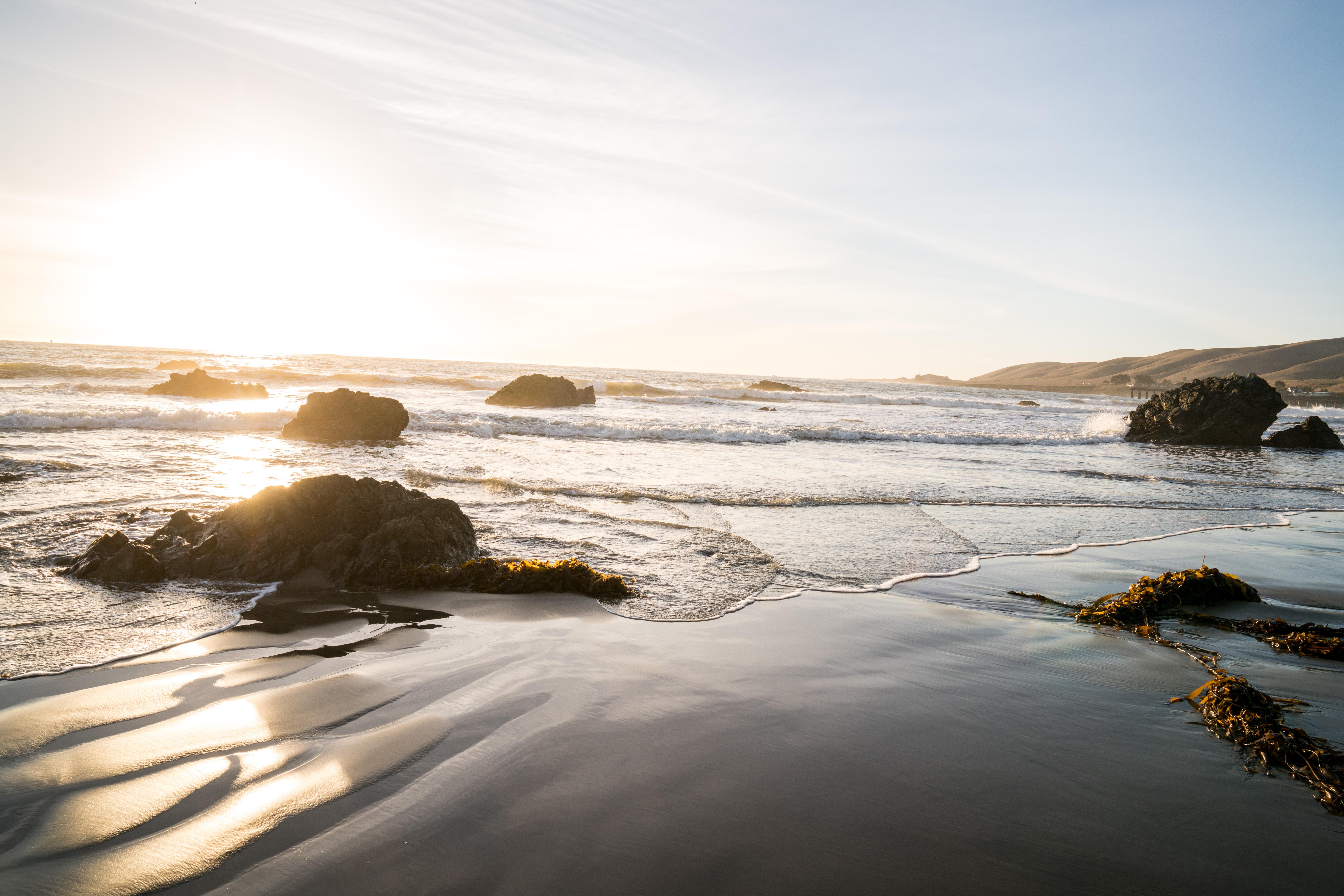 rocks on shore during daytime