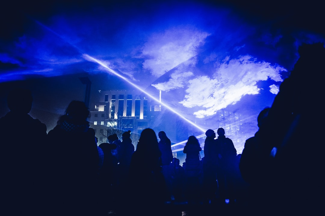 Taken during the Lumiere Festival in London on Saturday 20th January 2018. Brilliant blue lasers dazzled a crowd below as they moved and danced through the dry ice. It was like a mini Pink Floyd show. Without Pink Floyd. Or music.