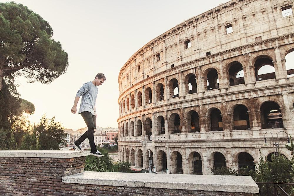 man jumping on edges