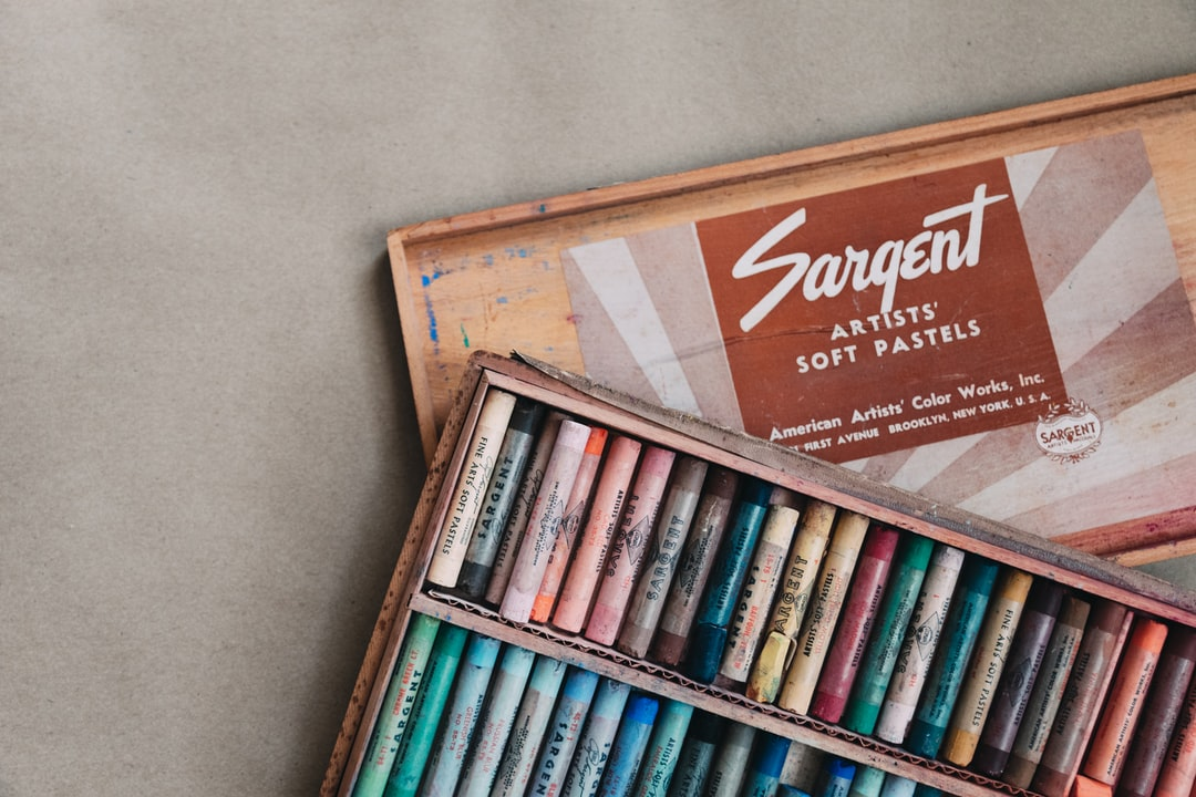 I inherited this set of pastels from my in-laws, as they were going through things from our grandmother's things after she passed away. The typography on the box is beautiful, and the wooden box is very fitting. They are extremely old, but still work beautifully.