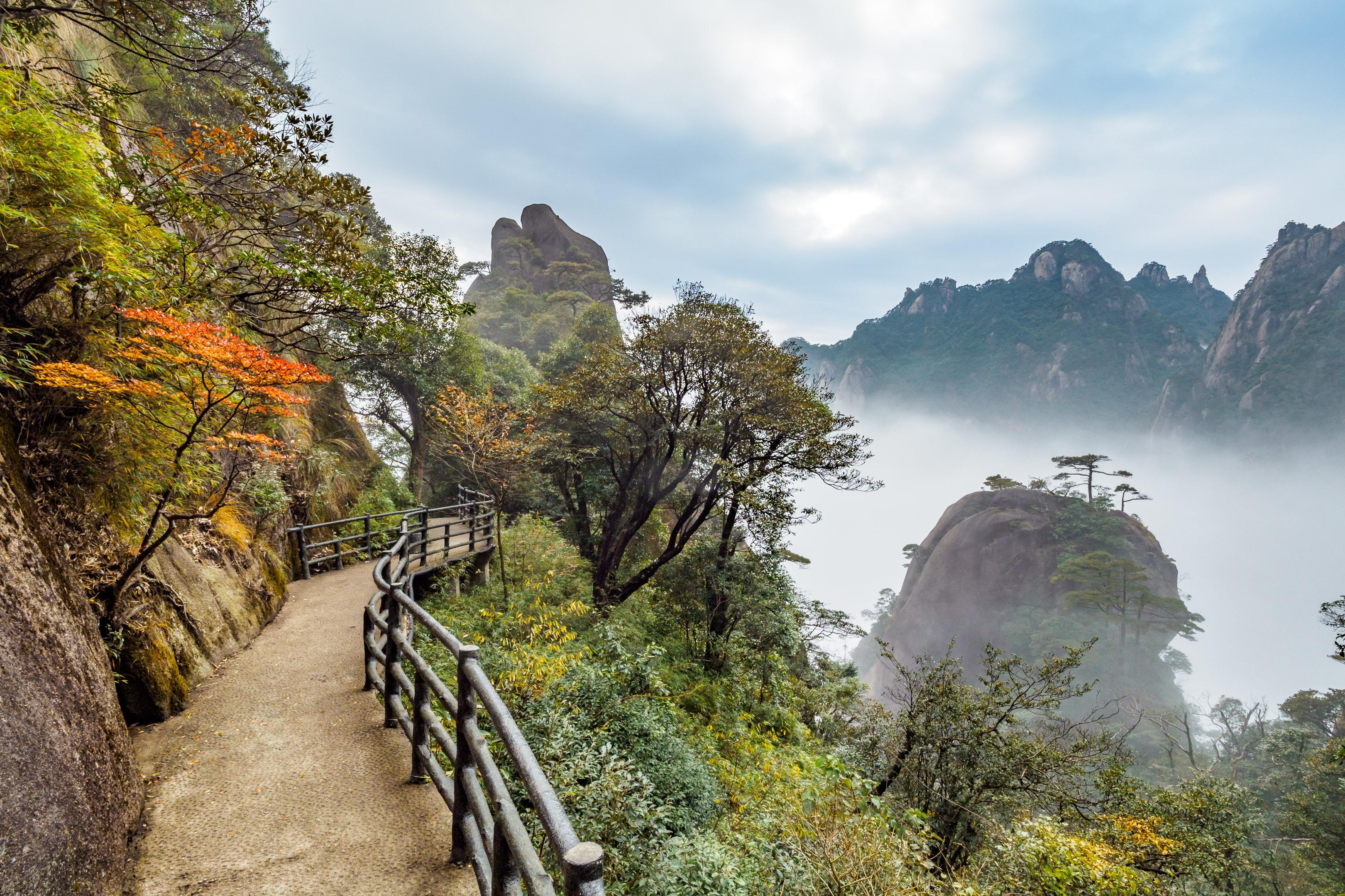 empty mountain bridge