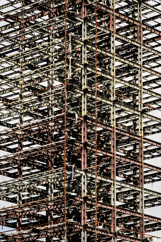 gray building frame
