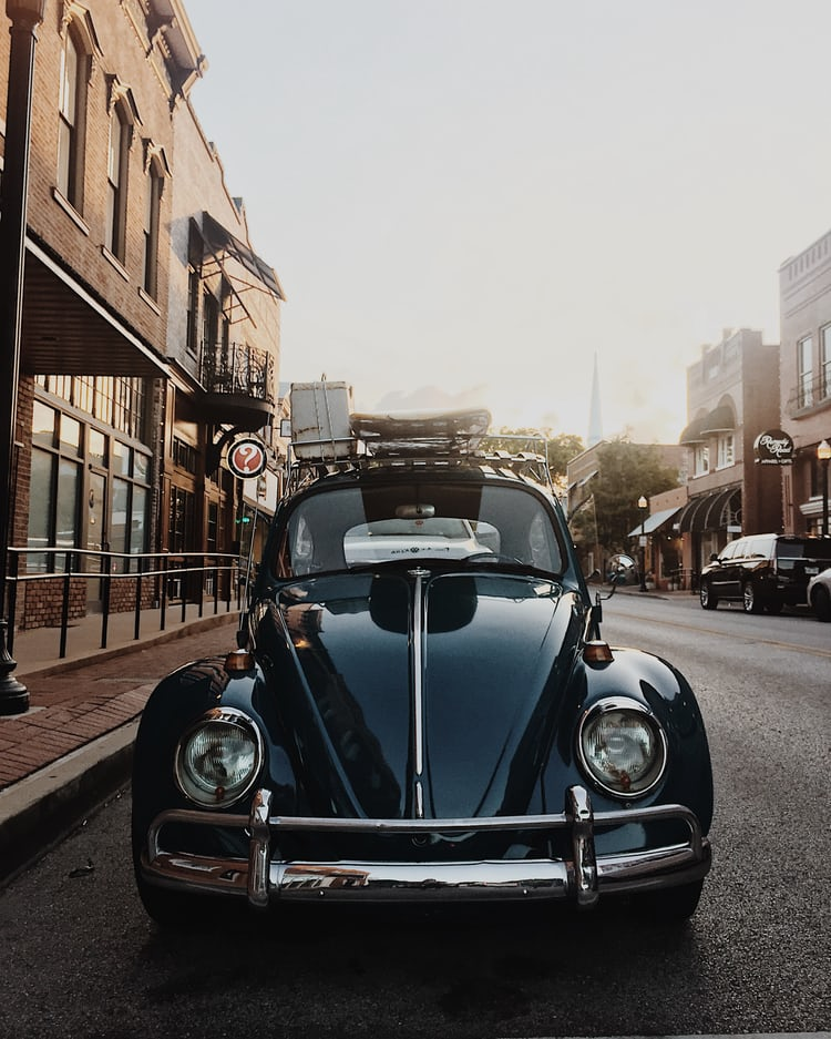 Volkswagen Beetle Retro 4k Hd Wallpaper: Vintage Blue Volkswagen Beetle Photo By Scott Umstattd