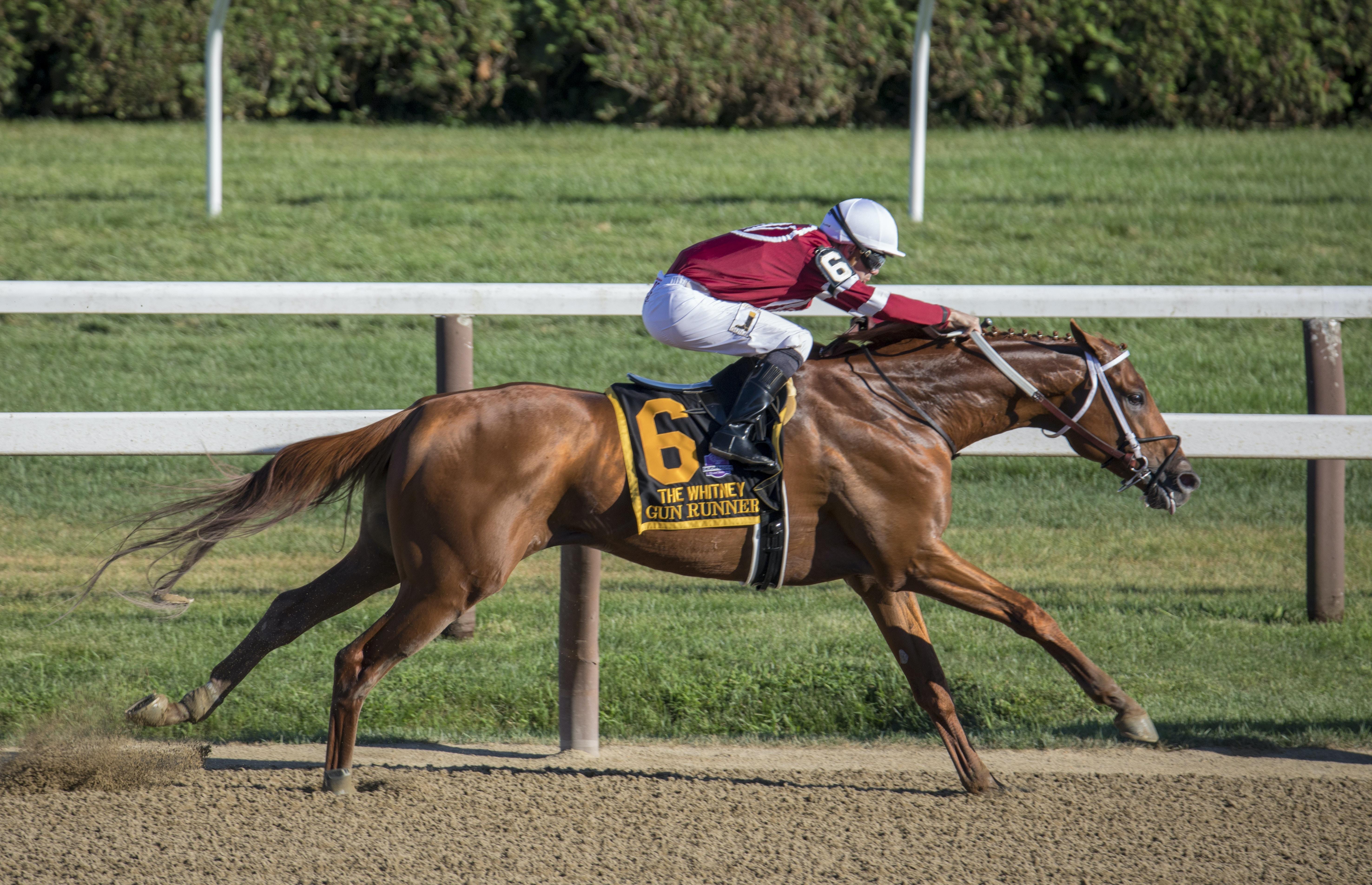 Jockey riding horse
