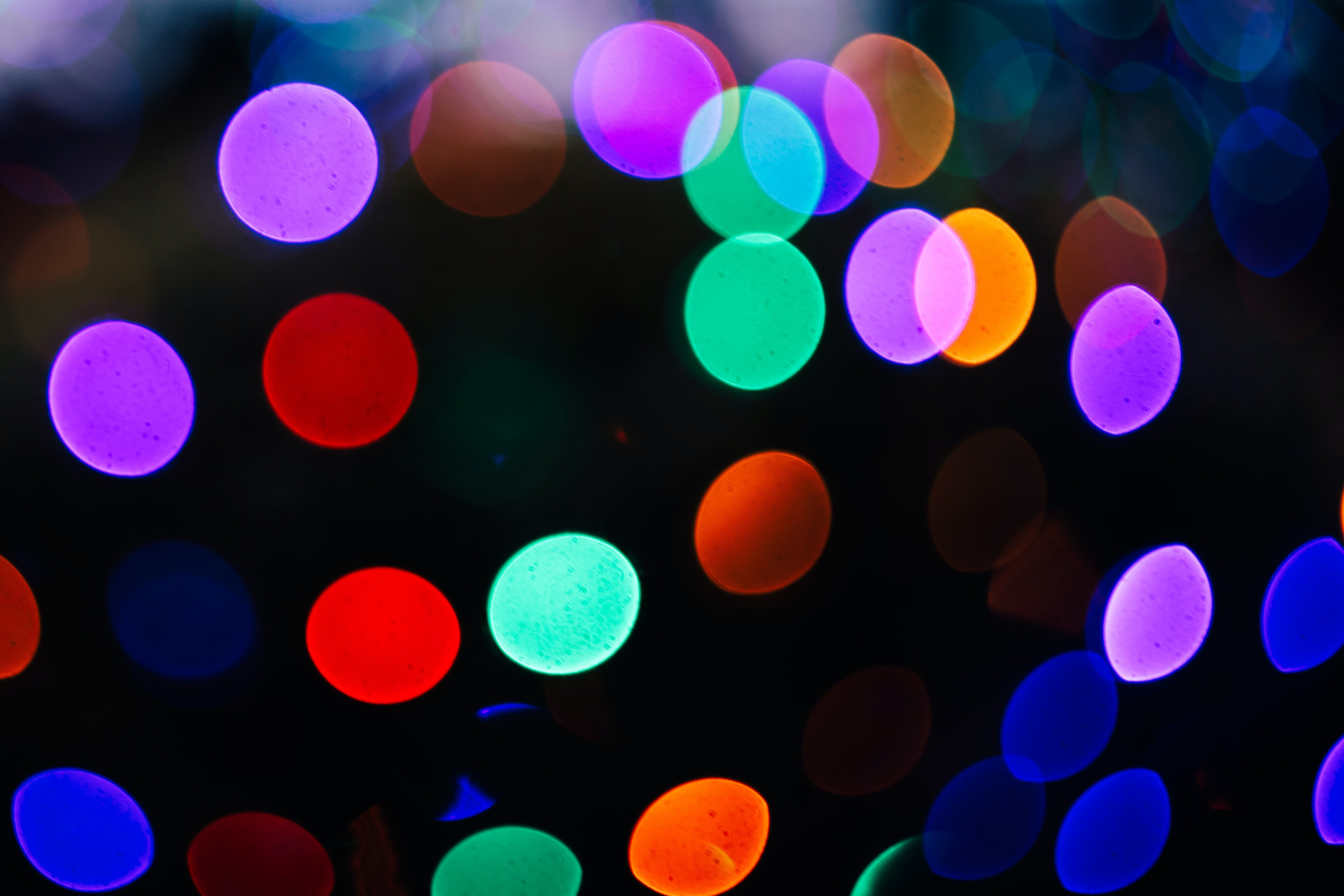 shallow focus photography of multicolored lights