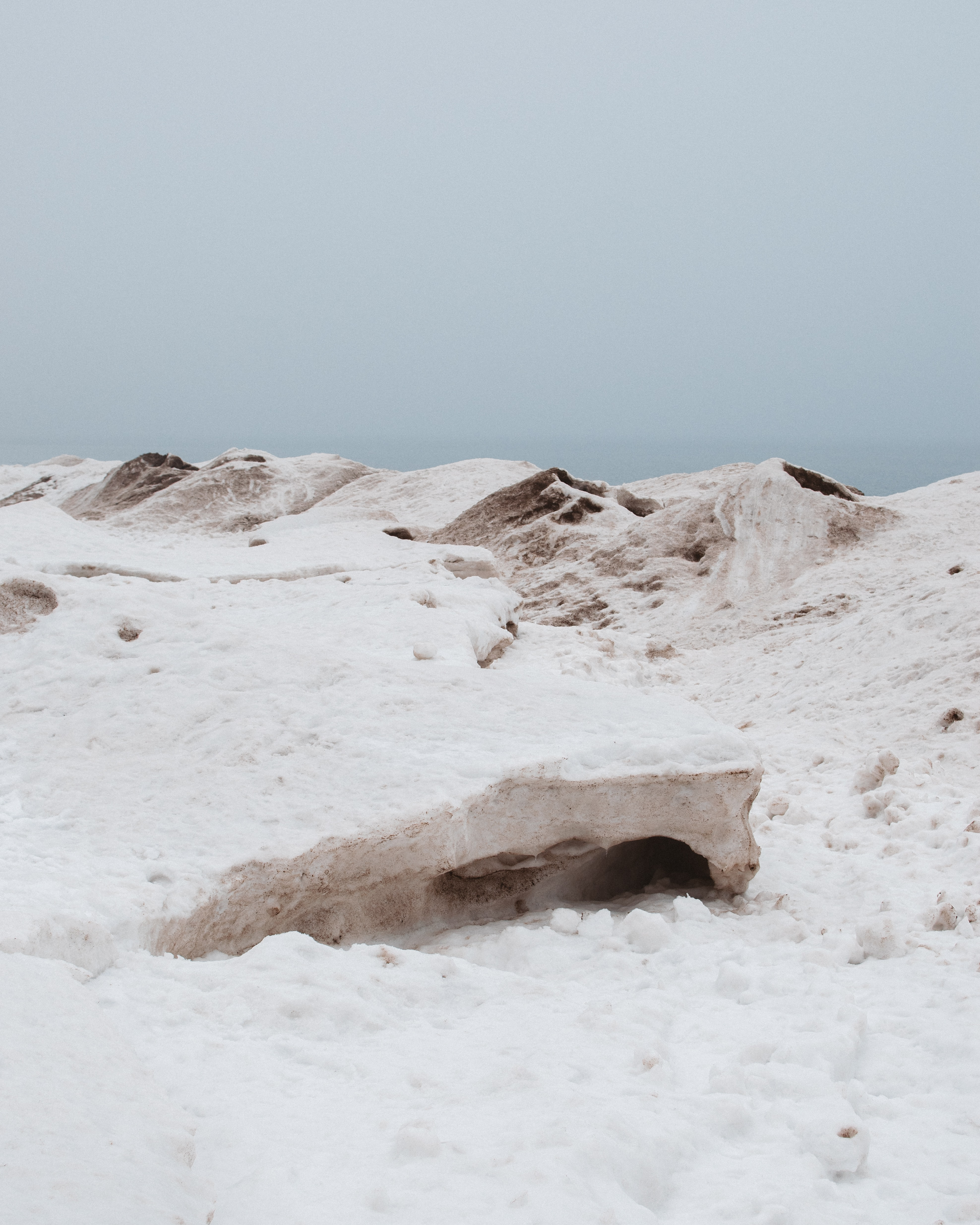 landscape photography of snowy hills