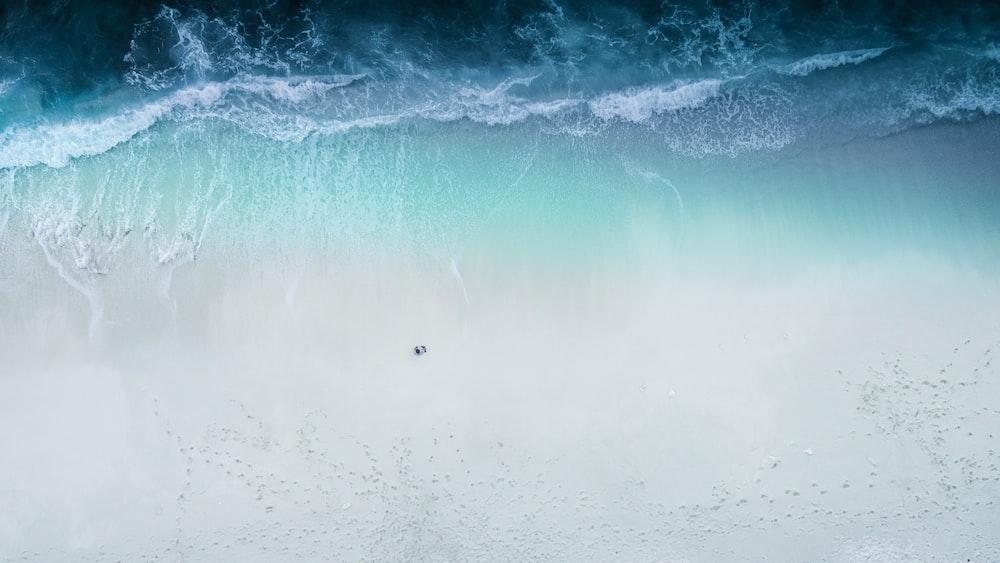 seashore arial view