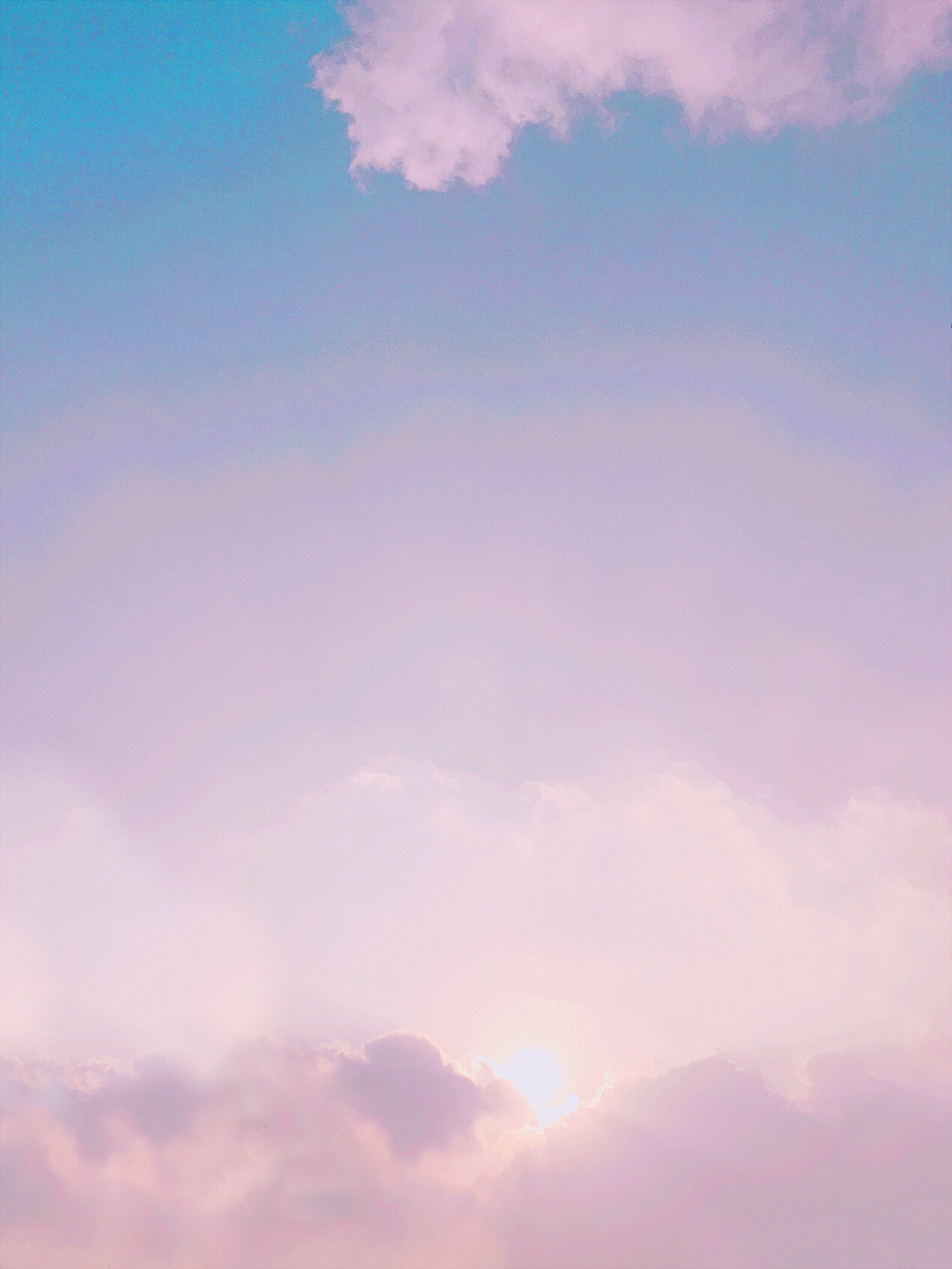 photo of pink and blue clouds