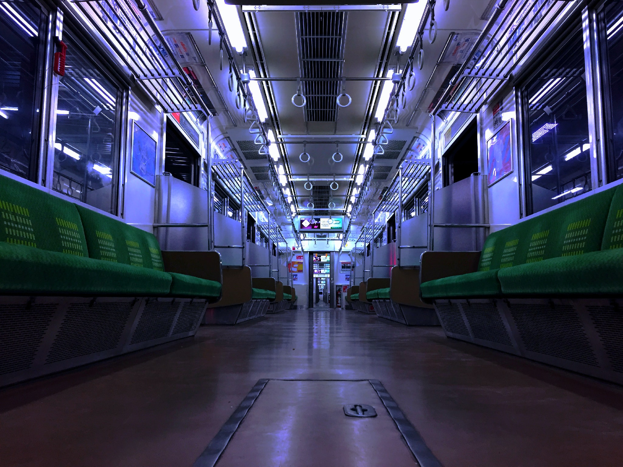 photo of empty train