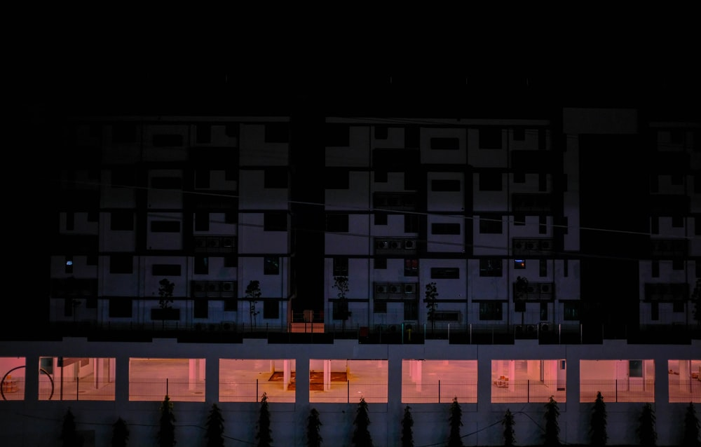 apartment building during nighttime