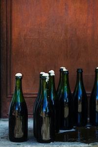 translucent glass bottle lot