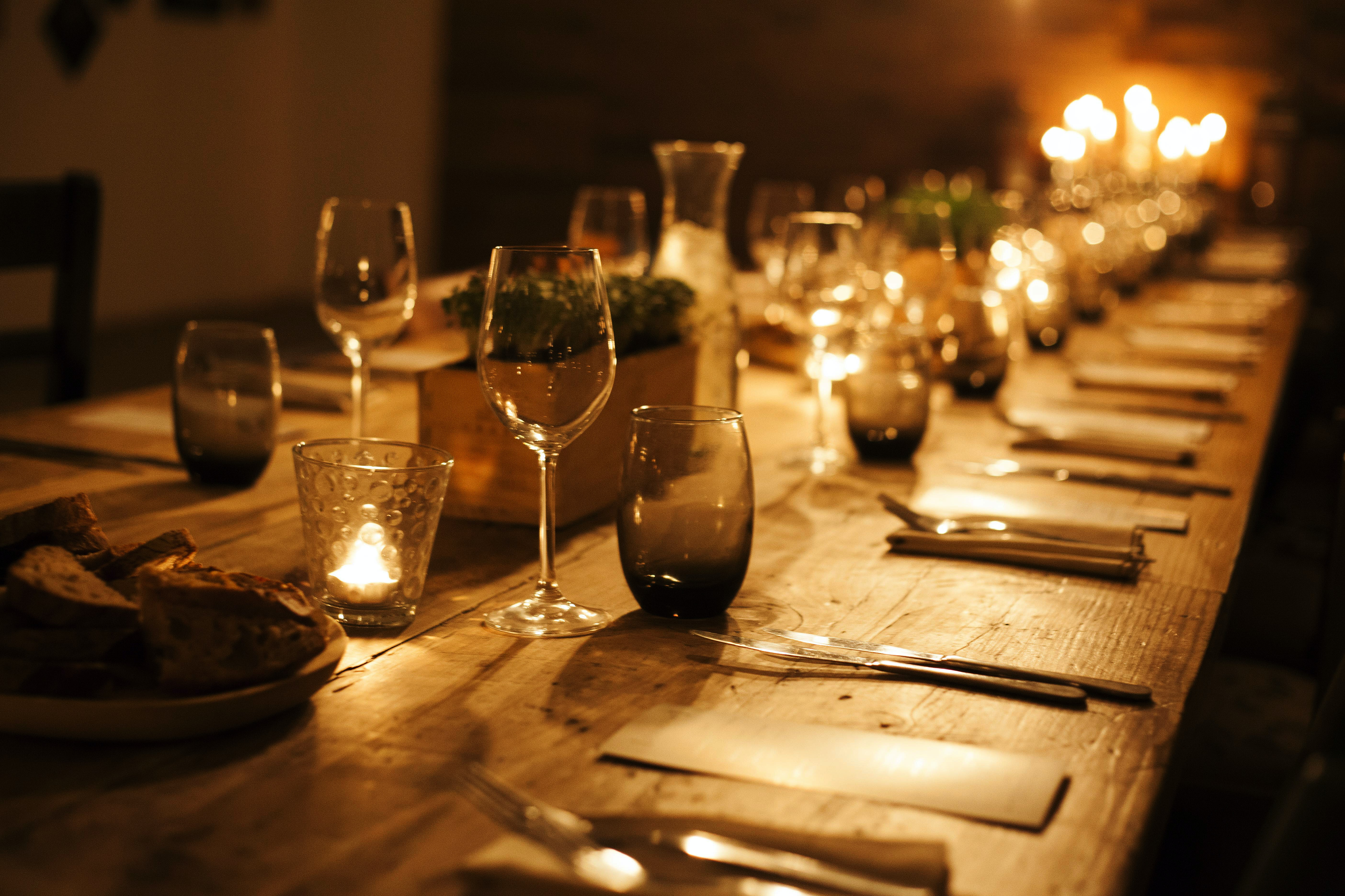 selective focus photo of formal table setting