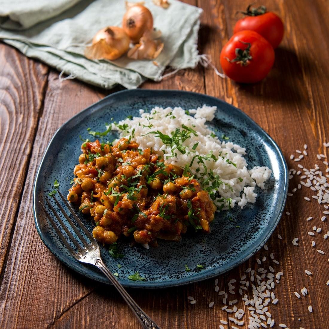 Punjabi chhole with rice