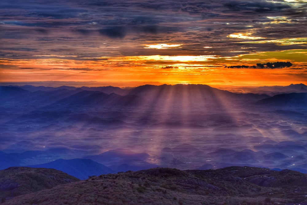 peak mountain during golden hour