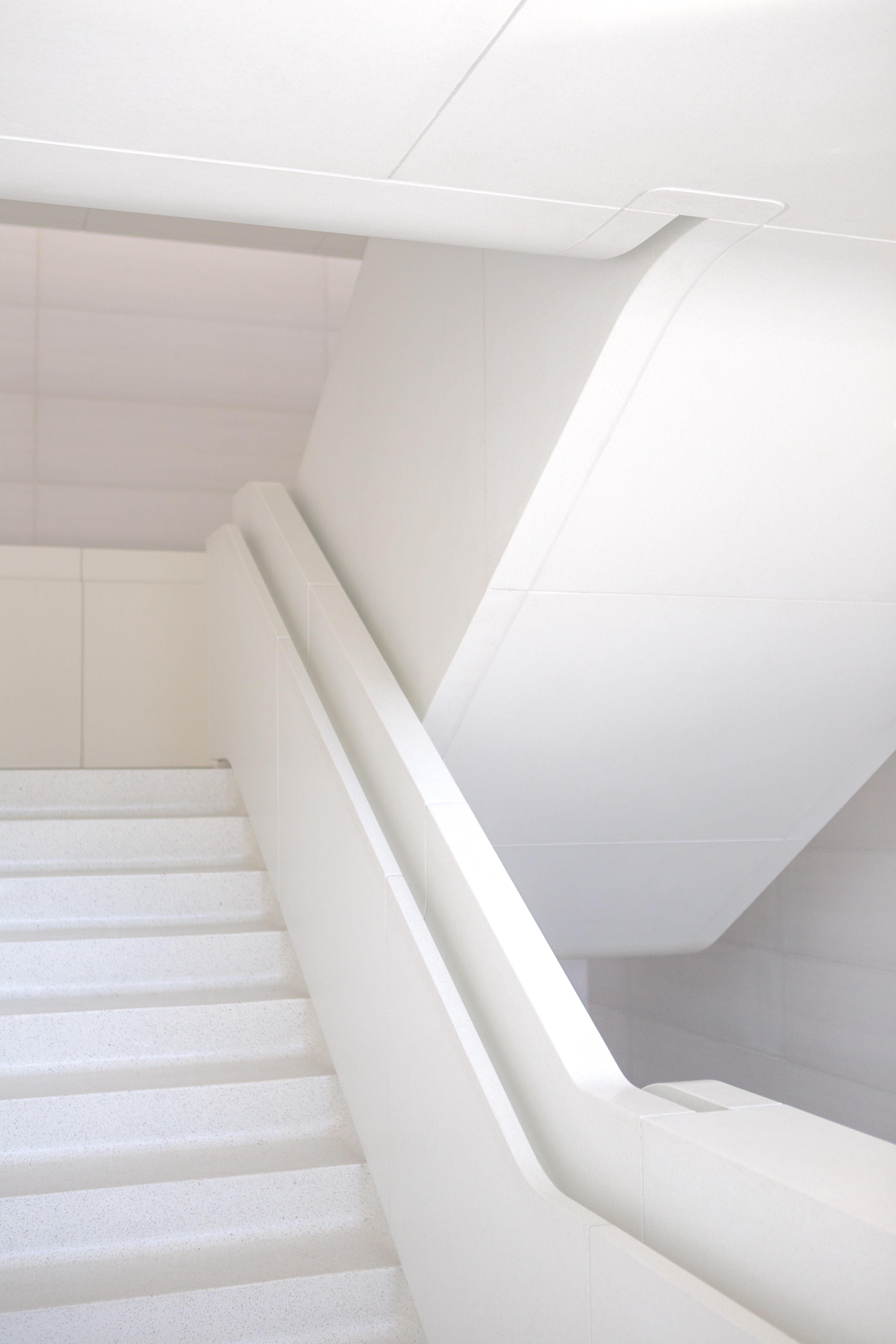 photo of white staircase
