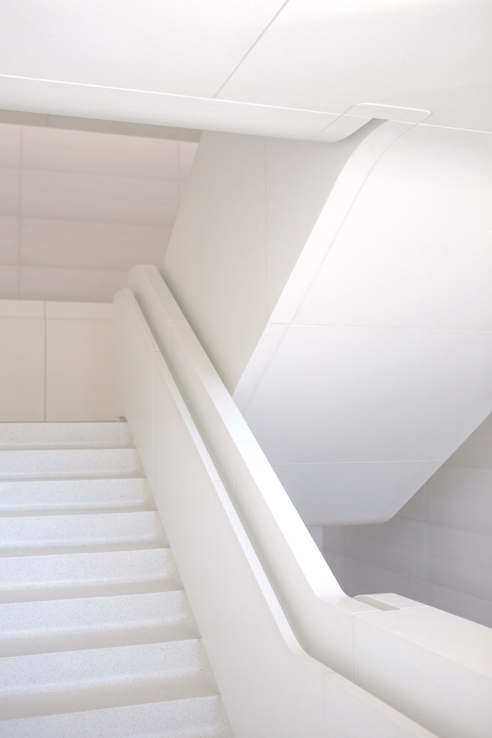photo of white staircase