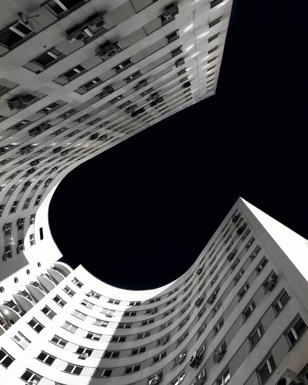 worm's-eye view photography of architectural building