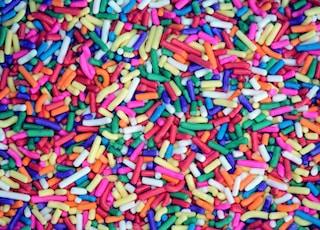 closeup photo of assorted-color decor
