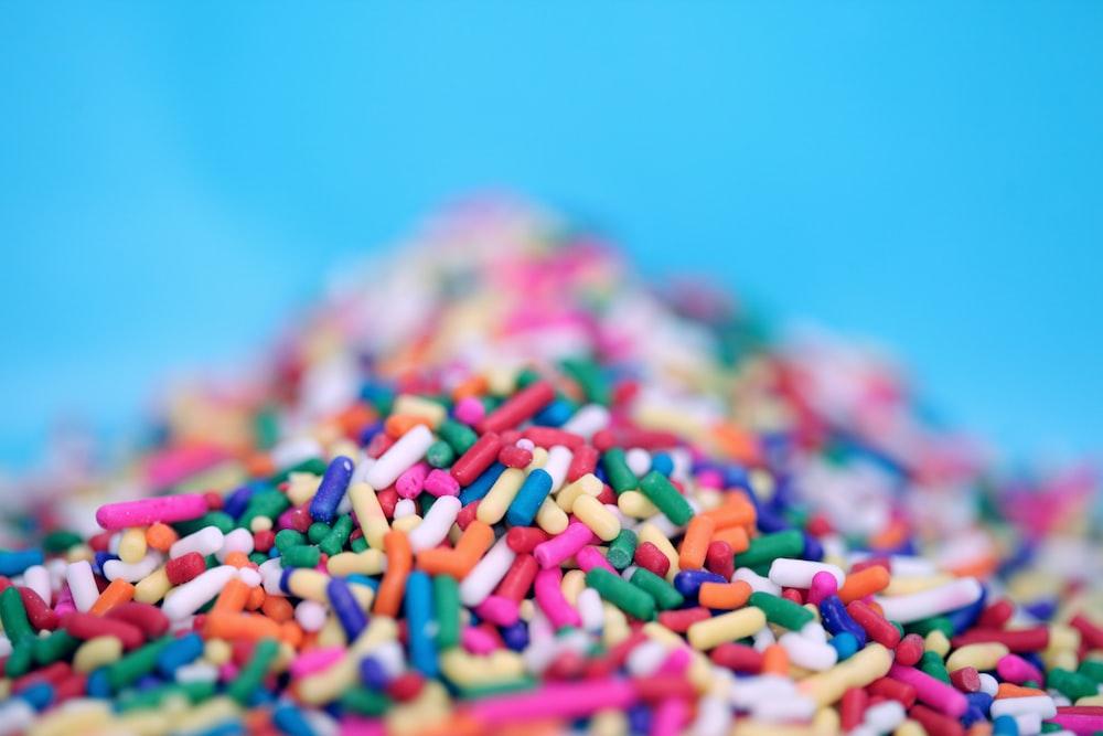 closeup photo of sprinkles