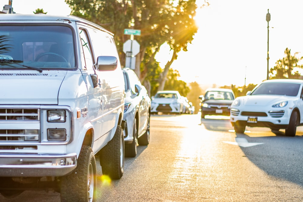 parked white van