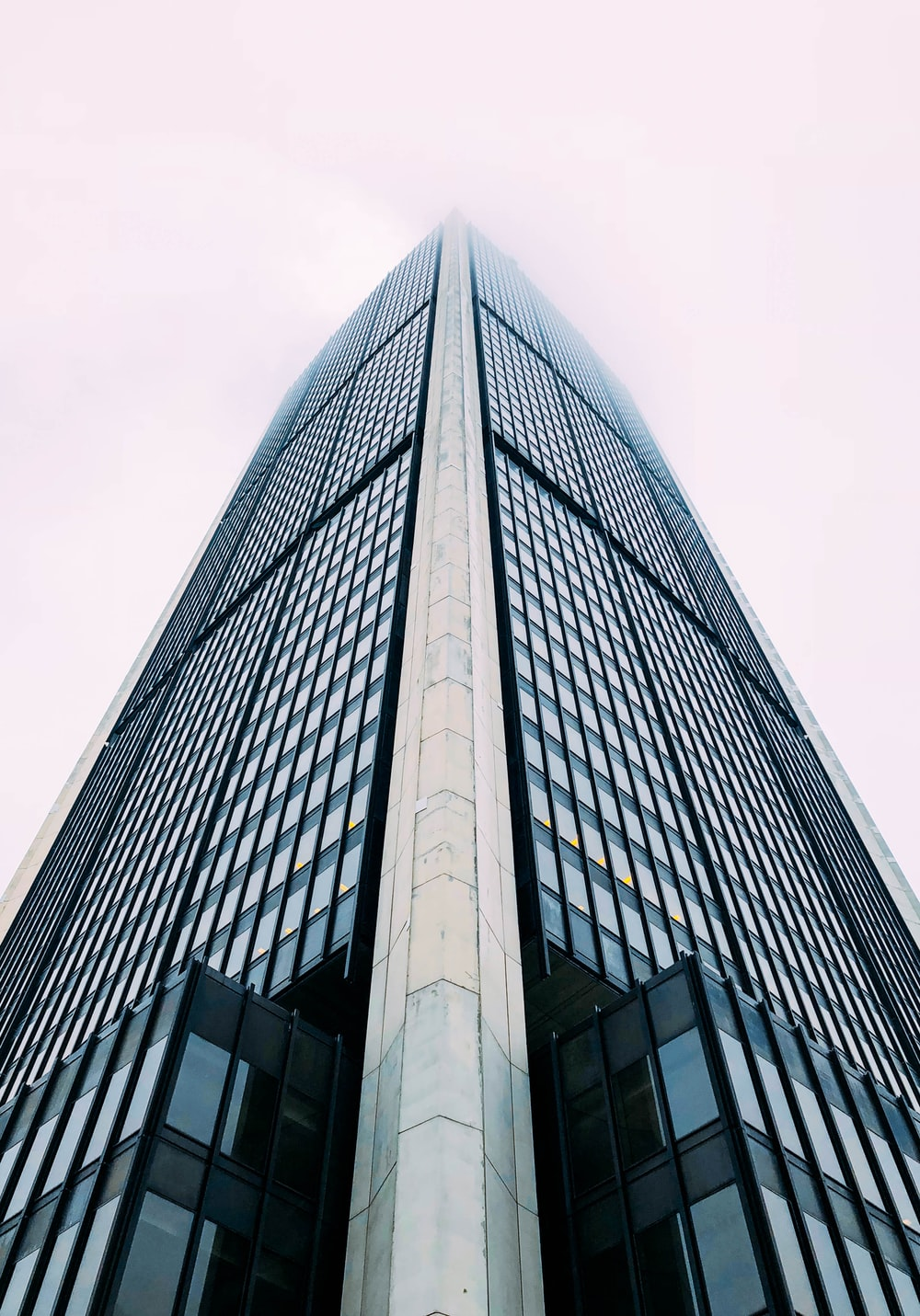 worm's eyeview of tall building