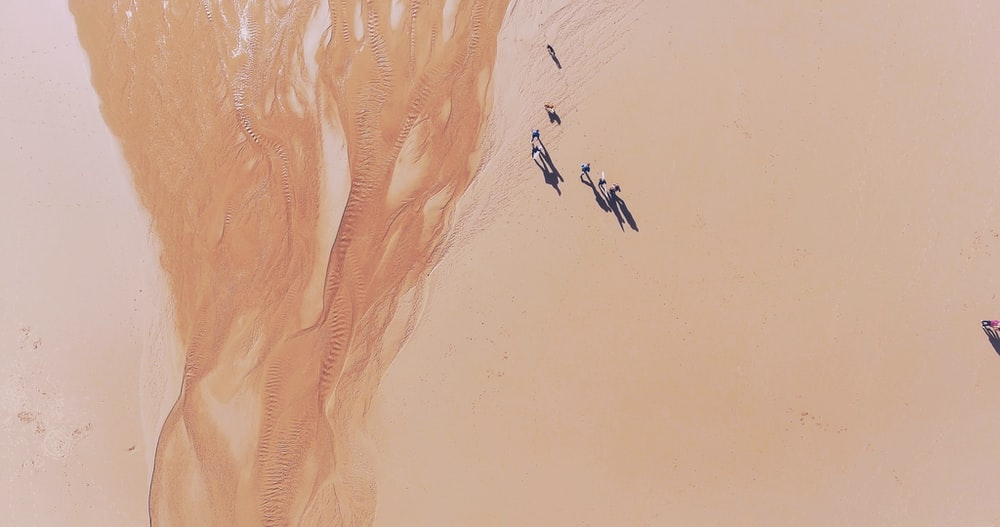 bird's eye view of desert sand