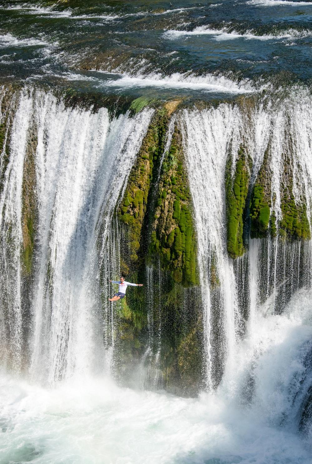 man jumped-off waterfalls